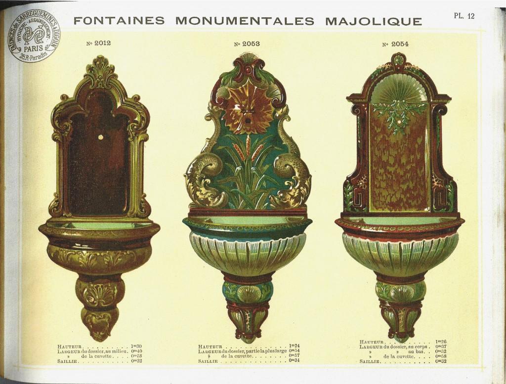 Sarreguemines catalogue sanitaire fontaines Planche 12
