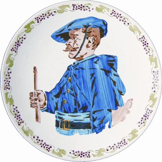 Sarreguemines assiette militaire Le Chasseur alpin