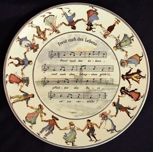 Sarreguemines assiette chansons alsaciennes