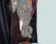 La fontaine Tête d'éléphant à Sarreguemines