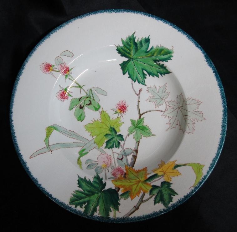 Assiette décor bouquet
