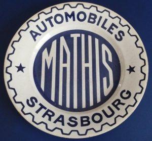 Sarreguemines assiette publicité Automobile Strasbourg