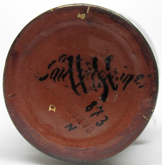 Sarreguemines vase Héron Carmélite cachet