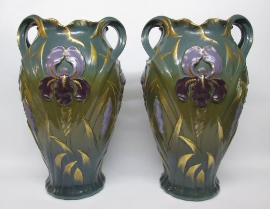 Sarreguemines vases grès kremer iris