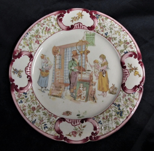 Sarreguemines assiette Froment Richard Salomon Brocanteur