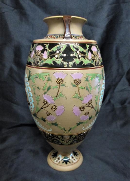 Sarreguemines grand vase grès émaillé