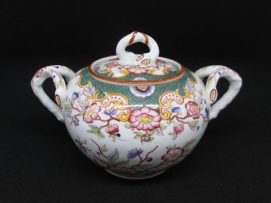 Sarreguemines sucrier porcelaine décor n° 215
