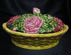 Sarreguemines, panier roses