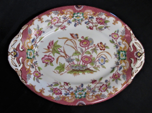 Sarreguemines plateau ovale porcelaine