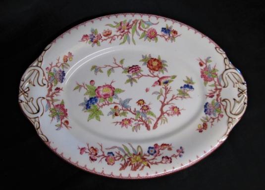 Sarreguemines plat ovale porcelaine