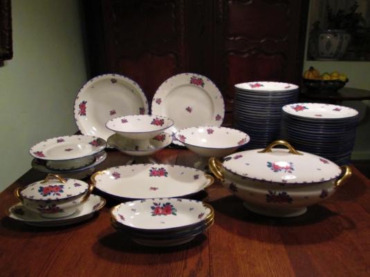 Limoges service de table porcelaine Betoule Legrand & Cie