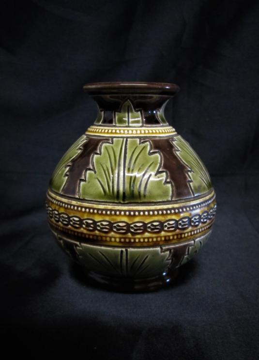 Sarreguemines majolique vase