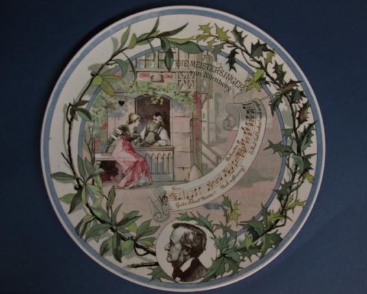 Sarreguemines assiette opéra Wagner