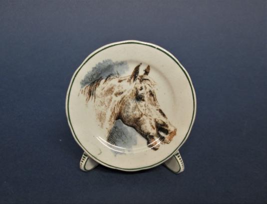 Sarreguemines porte-menu cheval équitation